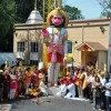 Hari Om Mandir Temple installs Hanuman idol for worship