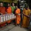 Buddhist Monastery Distributed Iftar Meals to Poor and Hungry Muslims