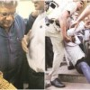 CPI (M) General Secretary Sitaram Yechury Attacked by the Members of Hindu Outfits in Delhi